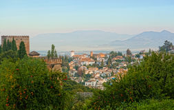 View of the Arab quarter in Granada royalty free stock photography