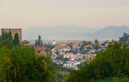 View of the Arab quarter in Granada royalty free stock images