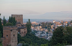 View of the Arab quarter in Granada royalty free stock photo
