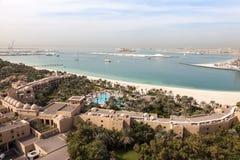 View of the Arabian Gulf coast in Dubai Stock Photography