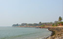 View of Arabian Sea from St Angelo`s Fort, Kannur, Kerala, India Royalty Free Stock Photography