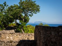View from the Aragonese Castle. On Ischia island Stock Images