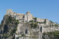View of the Aragonese Castle of Ischia. Island Stock Photography