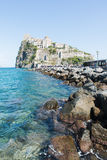 View of the Aragonese Castle of Ischia. Island Royalty Free Stock Photography