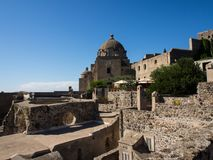 View from the Aragonese Castle. On Ischia island Royalty Free Stock Image