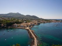 View from the Aragonese Castle. On Ischia island Royalty Free Stock Photography