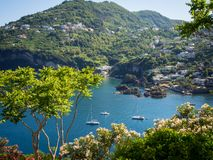 View from the Aragonese Castle. On Ischia island Stock Photo