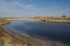 View of Aral lake. In Uzbekistan Royalty Free Stock Photos