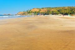 Arambol beach in Goa. View of Arambol beach. Goa, India Royalty Free Stock Images