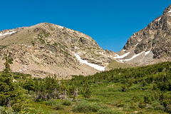 View from Arapahoe Pass Trail Royalty Free Stock Photography