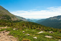 View from Arapahoe Pass Trail Stock Image