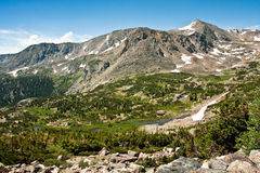 View from Arapahoe Pass Trail Stock Photography