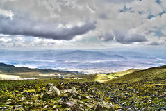View from Ararat. Mountain on Turkey side Royalty Free Stock Photos