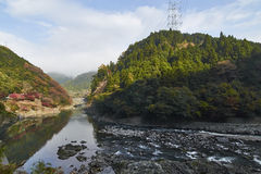 View of Arashiyama in Kyoto during Autumn Royalty Free Stock Photos