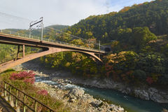 View of Arashiyama in Kyoto during Autumn Royalty Free Stock Image