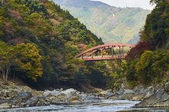 View of Arashiyama in Kyoto during Autumn Royalty Free Stock Photo