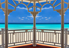 View from an arbor to the Atlantic Ocean. Varadero, Cuba Stock Photography
