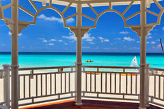 View from an arbor to the Atlantic Ocean Royalty Free Stock Photography