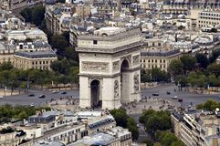 View on the 'Arc de Triomphe' Royalty Free Stock Image