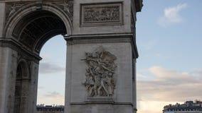 Arc de triomphe de l`Étoile. A view of the Arc de Triomphe de l`Étoile during the sunset in the winter time Royalty Free Stock Photography