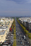 View from the Arc de Triomphe. A view of the Paris from the top of the Arc de Triomphe Stock Photo