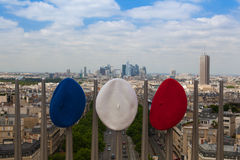 View from Arc de Triomphe and three berets Royalty Free Stock Images