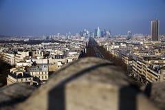 View from Arc de Triumph. View on Paris from famous Arc  Triumph in Paris, France Royalty Free Stock Image