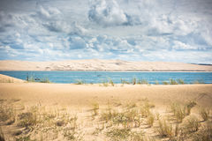 View of The Arcachon Bay, Aquitaine, France. View of The Arcachon Bay and The Duna of Pyla, Aquitaine, France Stock Photos