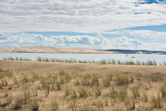 View of The Arcachon Bay, Aquitaine, France Royalty Free Stock Photos