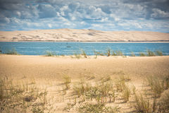 View of The Arcachon Bay, Aquitaine, France. View of The Arcachon Bay and The Duna of Pyla, Aquitaine, France Royalty Free Stock Photo