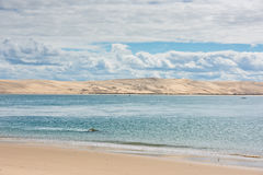 View of The Arcachon Bay, Aquitaine, France Royalty Free Stock Photo