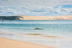 View of The Arcachon Bay, Aquitaine, France Stock Photo