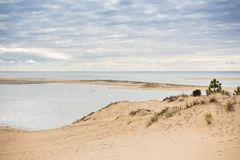 View of The Arcachon Bay and The Duna of Pyla, France. View of The Arcachon Bay and The Duna of Pyla, Aquitaine, France Stock Image