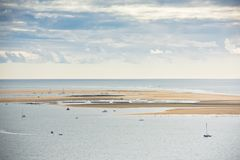 View of The Arcachon Bay, France. View of The Arcachon Bay, Aquitaine, France Royalty Free Stock Photography