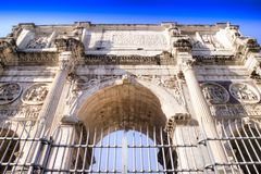 Arch of Constantine Rome Royalty Free Stock Photo