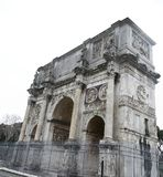 Arch of Constantine. View of the arch of Constantine near the Coliseum in Rome, Italy Royalty Free Stock Photo