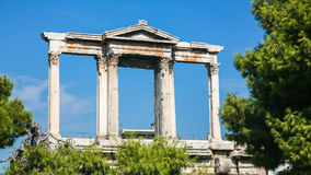 View of Arch of Hadrian in Athens city. Travel to Greece - view of Arch of Hadrian in Athens city Stock Photos