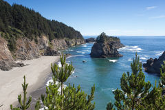 View from Arch Rock trail in Oregon Stock Photography
