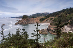 View from Arch Rock trail in Oregon Stock Photos