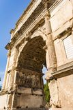 View of Arch of Titus in Rome, Italy Royalty Free Stock Images