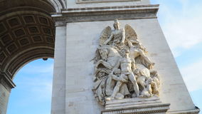 A view of the arch triumphal arch stock video footage