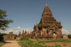 Temples and pagodas of Bagan. View of the archaeological park of the ancient temples and pagodas of Bagan. Myanmar royalty free stock photos