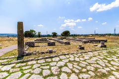 View of the archaeological site of Lucus Feroniae, near Rome, It Royalty Free Stock Image