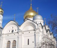 Archangels church in Moscow Kremlin. UNESCO World Heritage Site. View of the Archangels church in Moscow Kremlin, a popular touristic landmark. UNESCO World Royalty Free Stock Image