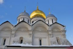 Archangels church in Moscow Kremlin. UNESCO World Heritage Site. View of the Archangels church in Moscow Kremlin, a popular touristic landmark. UNESCO World Stock Images