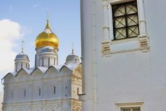 Archangels church in Moscow Kremlin. UNESCO World Heritage Site. View of the Archangels church in Moscow Kremlin, a popular touristic landmark. UNESCO World Royalty Free Stock Photography