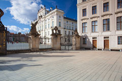 View on Archbishops Palace from the First Courtyard of Prague Ca Stock Photos