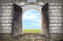 View from arched passage Royalty Free Stock Photos