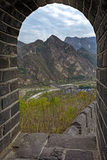 View Through Arched Window At Great Wall Of China Royalty Free Stock Photo