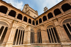 View of archery in San Esteban convent cloister in Salamanca Stock Photography
